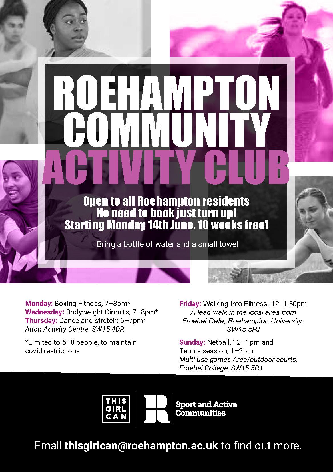 ROEHAMPTON COMMUNITY ACTIVITY CLUB